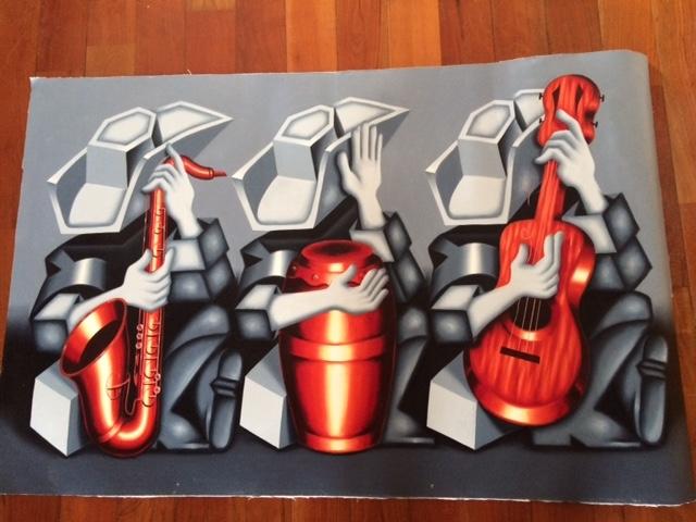 キューバの首都ハバナで購入した油絵