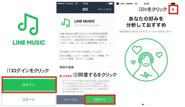 LINE MUSIC登録手順⑴