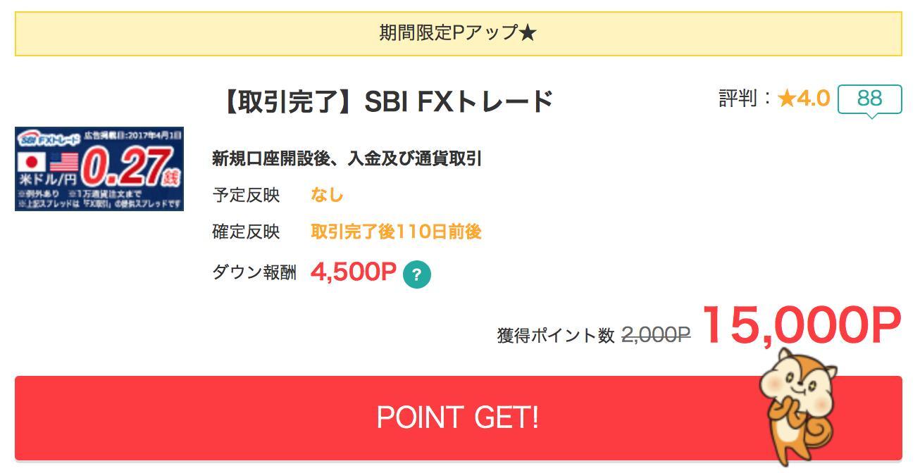 SBI FXのモッピー案件