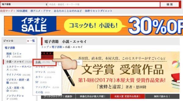 楽天kobo電子書籍ジャンル選定