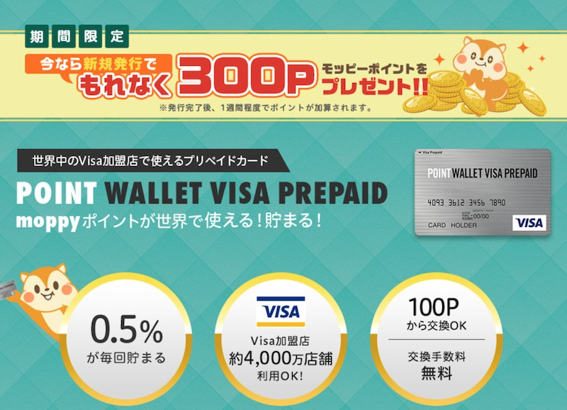 POINT WALLET VISA PREPAID詳細