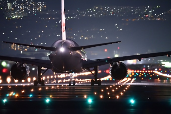 JALフライト夜