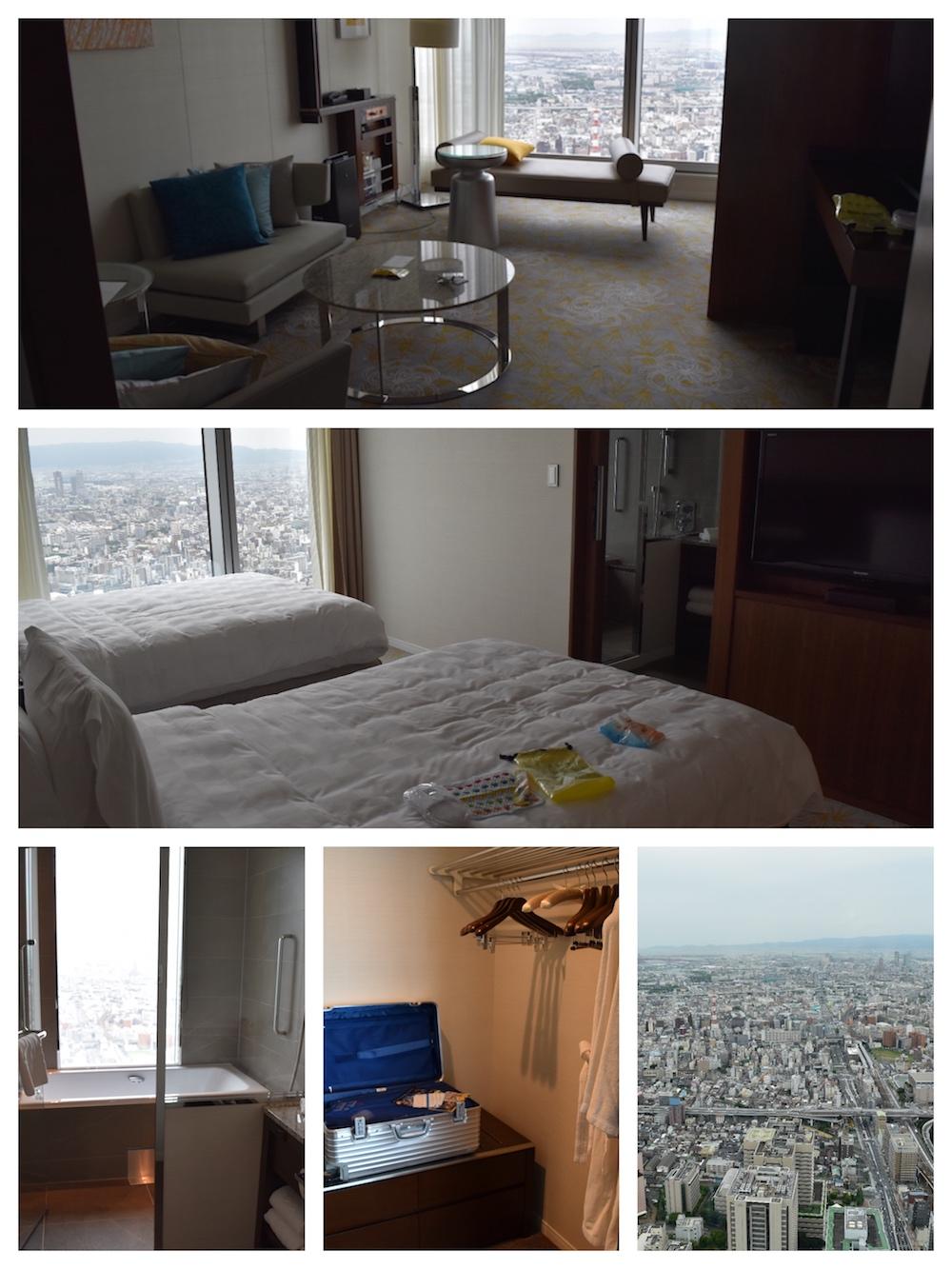 大阪マリオットのジュニアスイートの部屋の様子