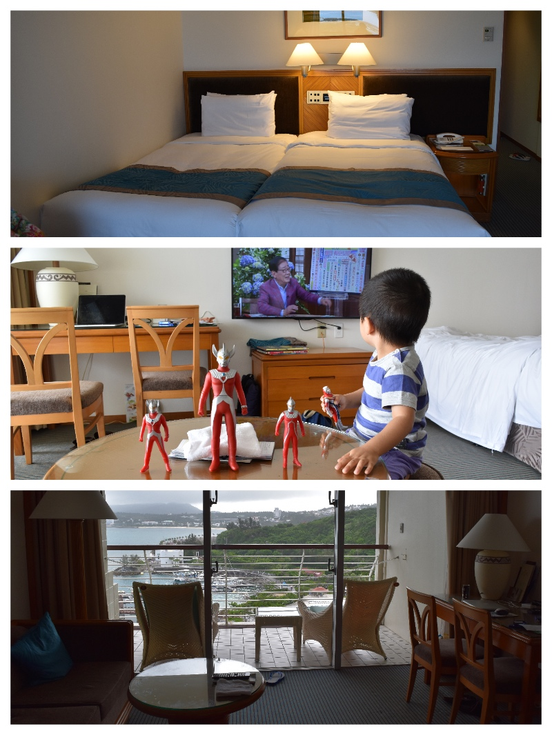ルネッサンス沖縄のツインルームとバルコニー