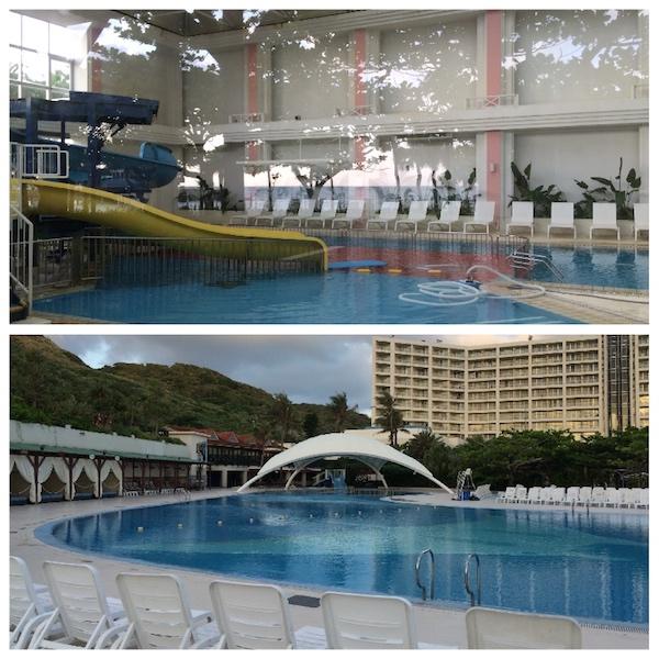 ルネッサンス沖縄のインドアプールとアウトドアプール