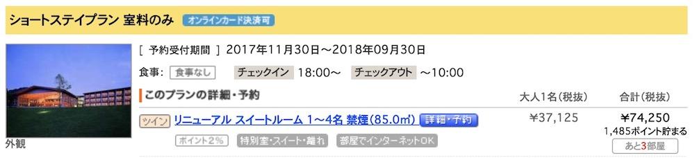 軽井沢プリンスホテル/プリンス15000ポイント
