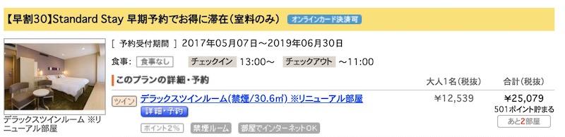 新宿プリンスホテル/プリンス6000ポイント