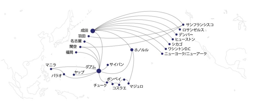 ユナイテッド航空 日本からハワイ、グアム