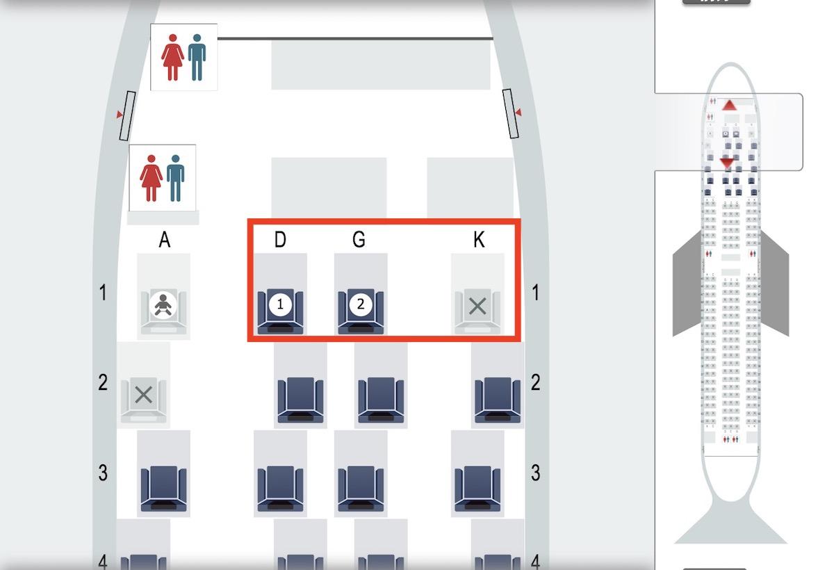 国際特典航空券でビジネスクラスの座席指定