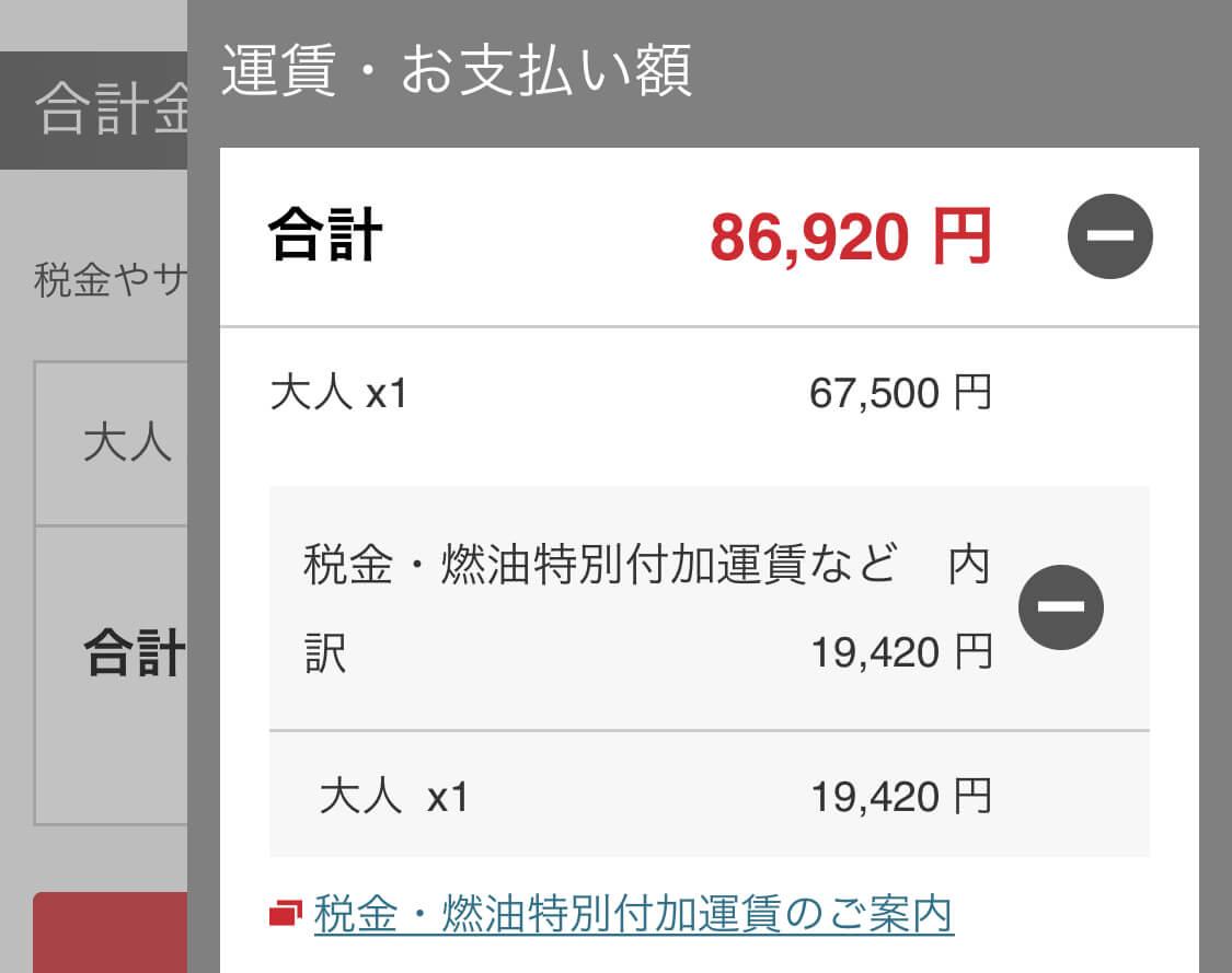 JAL国際航空券ハワイ7月のエコノミー運賃