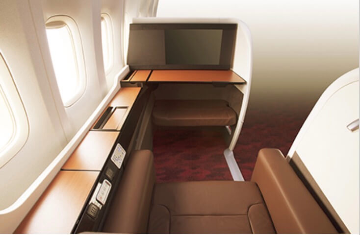 JALファーストクラスの座席(国際線)