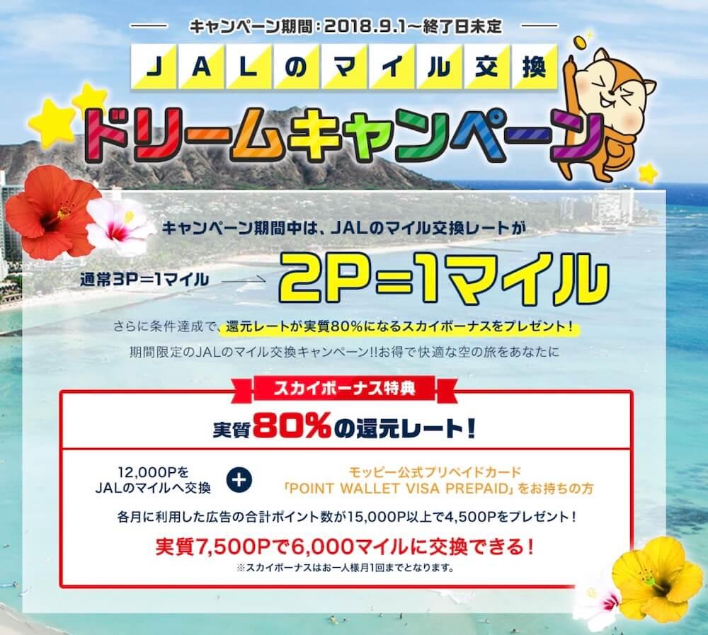 JALのマイル交換キャンペーン