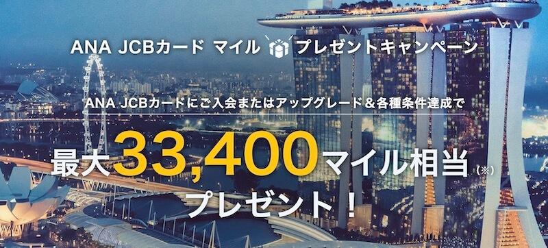 ANAJCBカード入会キャンペーン