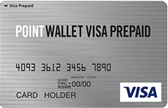 POINT WALLET VISA PREPAIDのカードフェイス