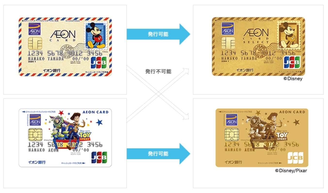 イオンゴールドカードのブランドやデザインは変更不可