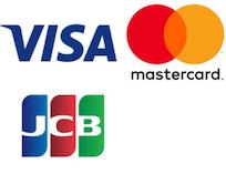 VISA、MasterCard、JCBのロゴ