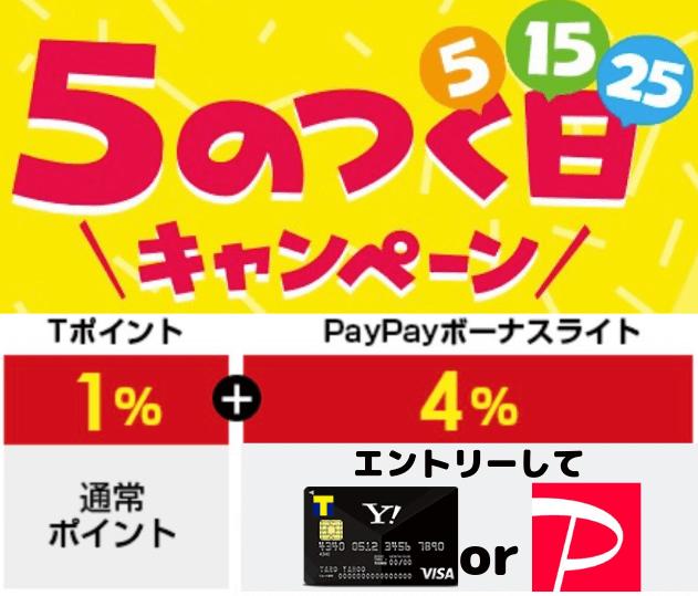 Yahoo!ショッピング5のつく日キャンペーン最新版