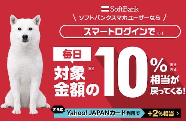 Yahoo!ショッピングソフトバンクユーザーは10%