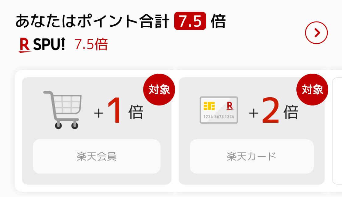 楽天市場アプリのSPU