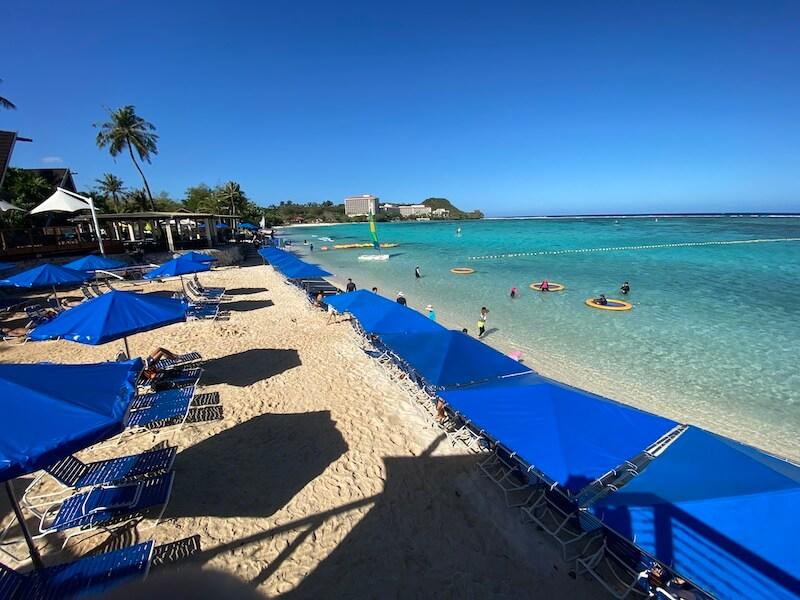 PICグアムのビーチ