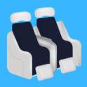 飛行機ー座席のロゴ