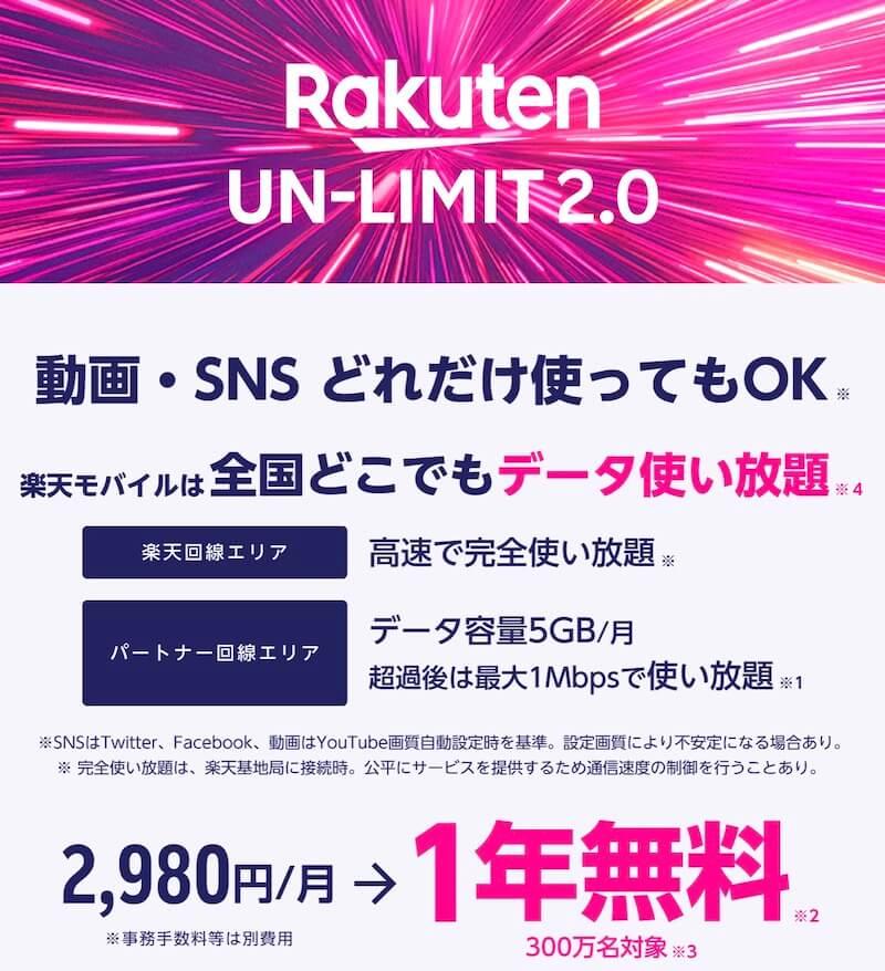 楽天un-limit2.0