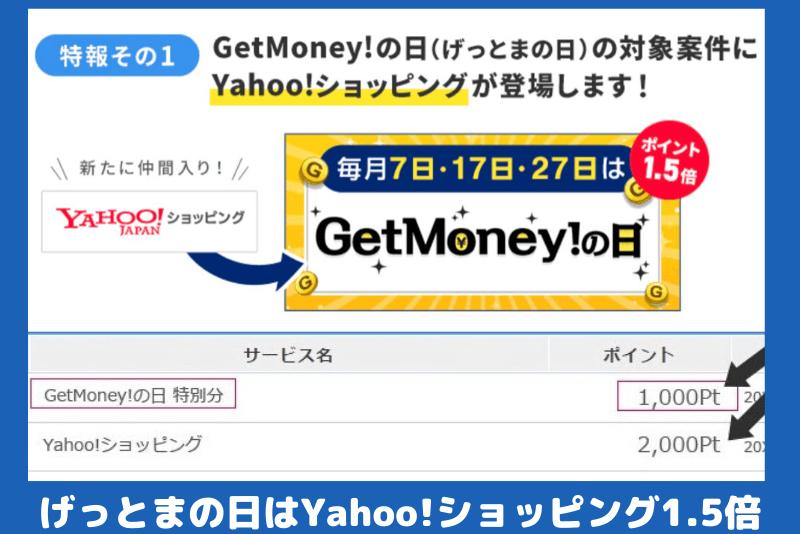 げっとま の日Yahoo!ショッピング1.5倍