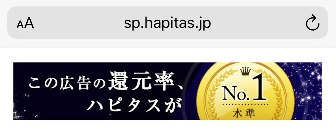 ハピタス還元率NO1水準