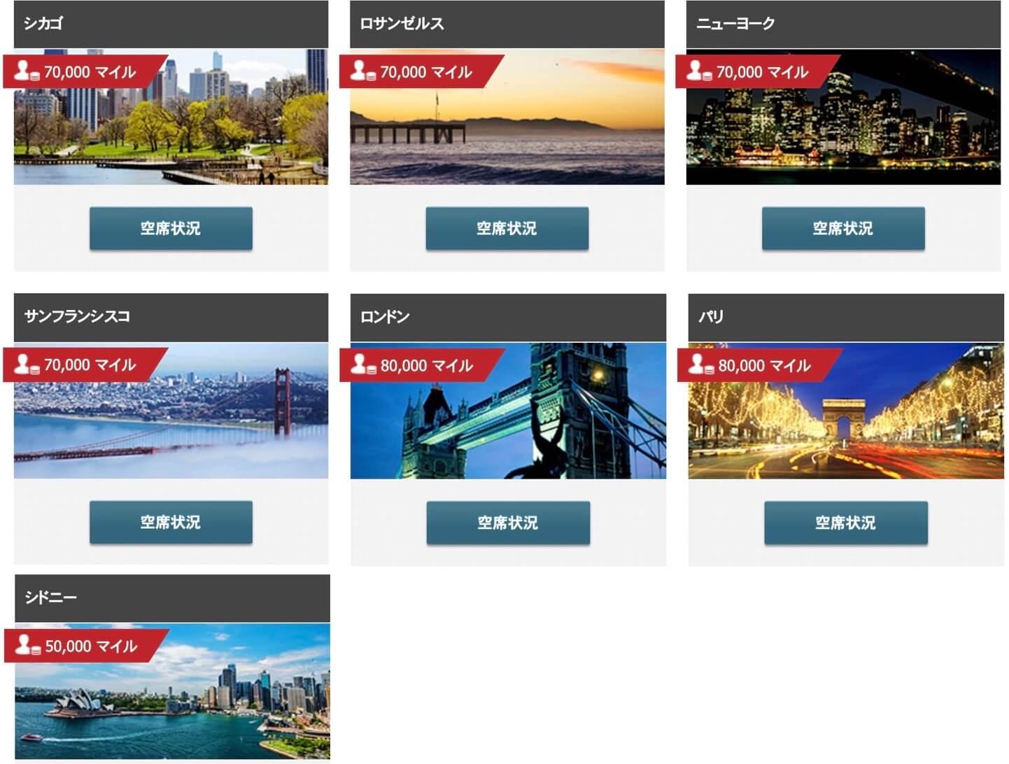 JALのファーストクラスがある路線・国