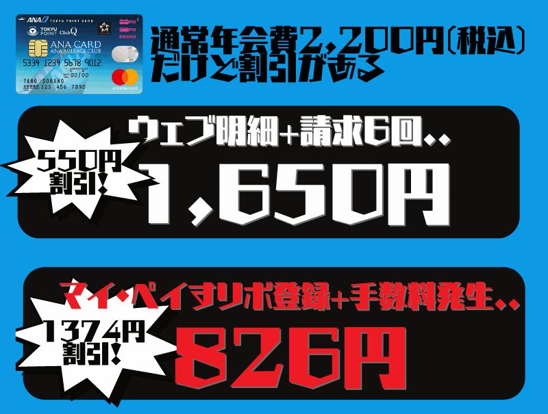 ANA東急カード年会費826円